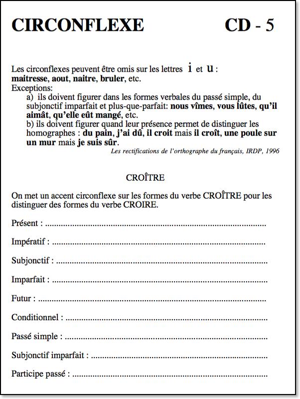 Verbes Et Accent Circonflexe Cd 5 Conjugaison Cocktail